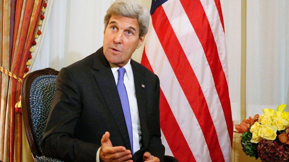 US Secretary of State John Kerry in New York on 19 September
