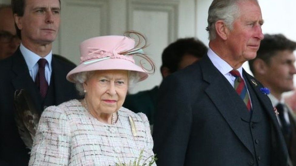 Queen Elizabeth II and the Prince of Wales