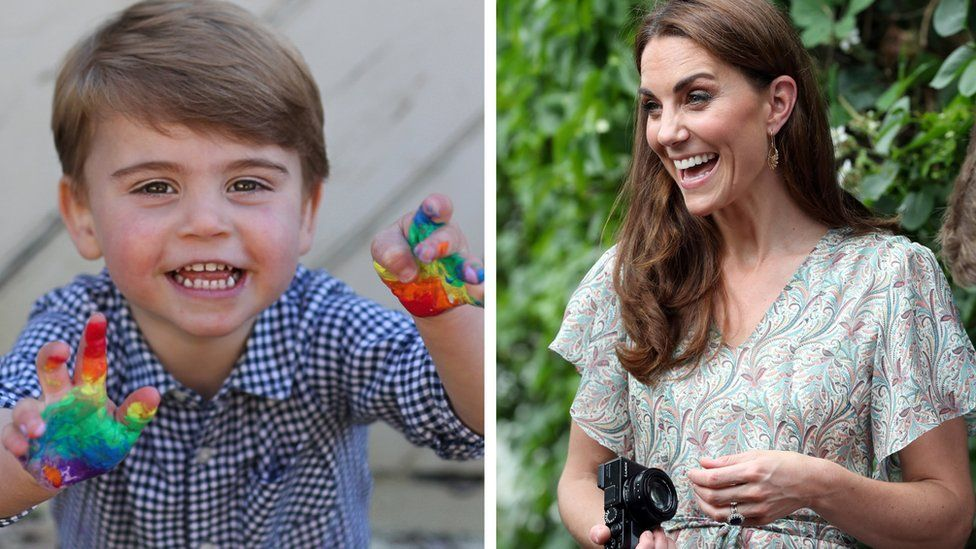 Prince Louis and Duchess of Cambridge