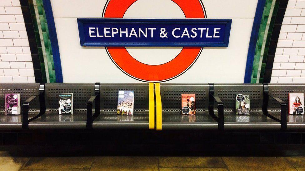 Books left on the Tube