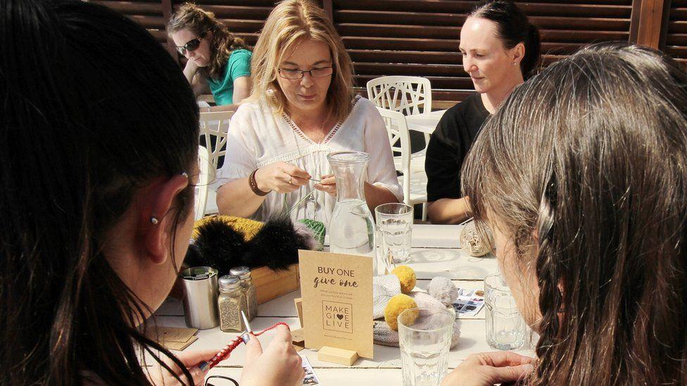 Make Give Live knitting group