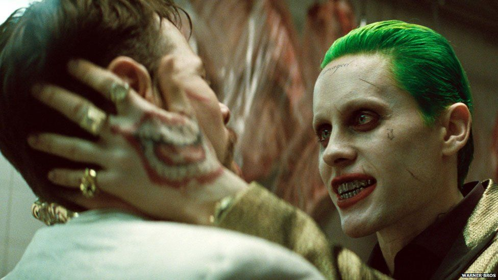 Jared Leto with another Suicide Squad cast member