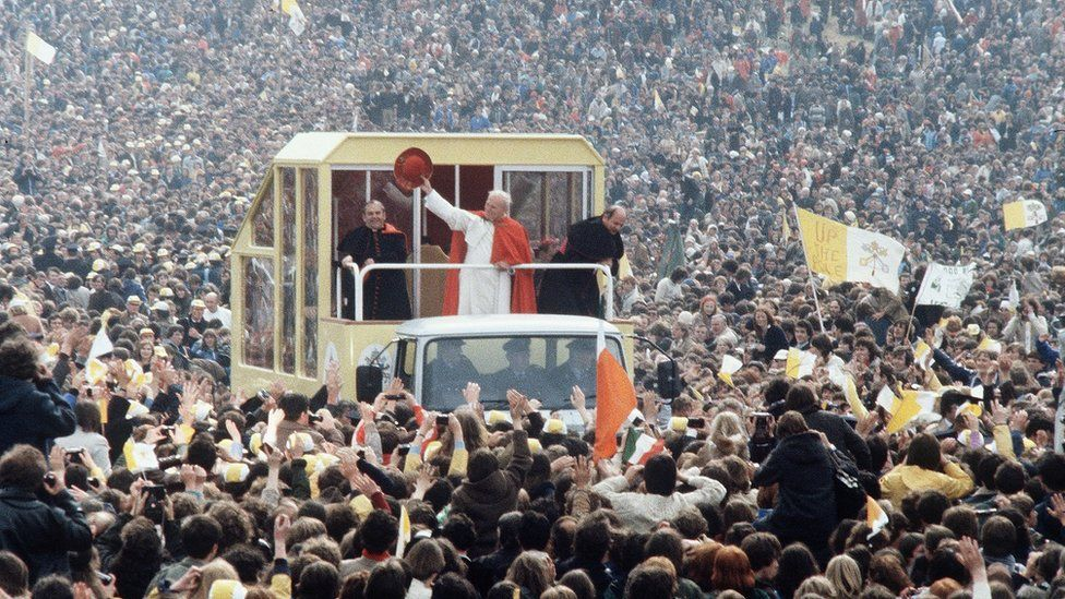Millions of people came to see Pope John Paul II when he visited Ireland in 1979