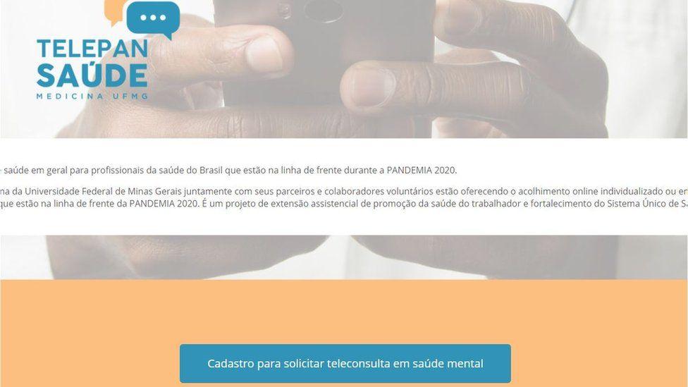 Site do Telepan Saúde