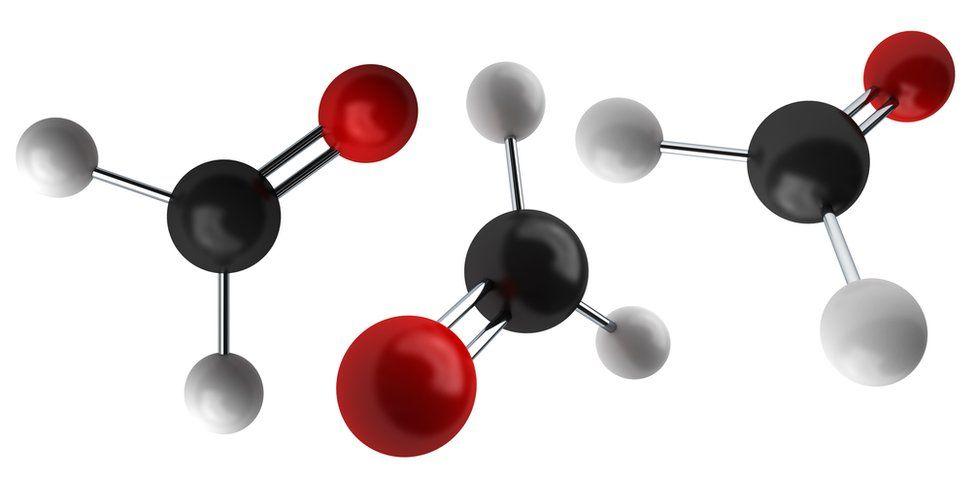 Molecular diagram of formaldehyde