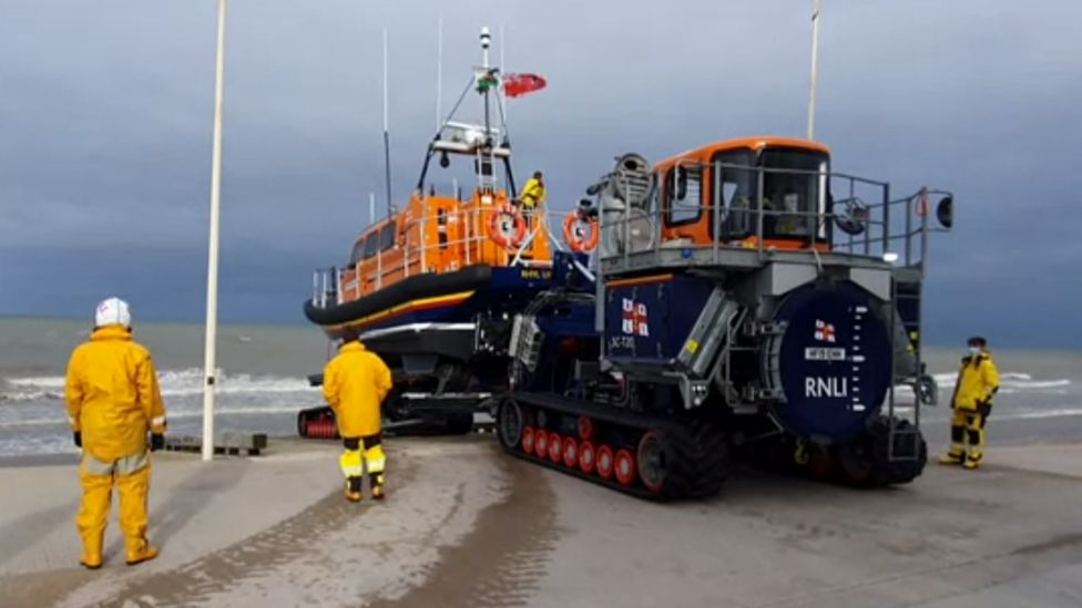 RNLI Shannon class lifeboat launched