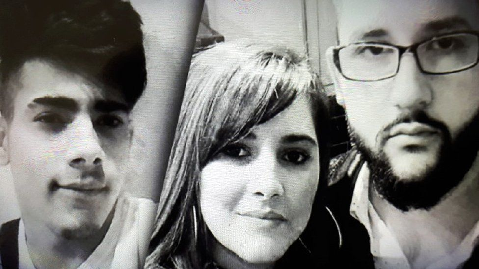 Tomas (left) Jana (middle) and Marko (right).