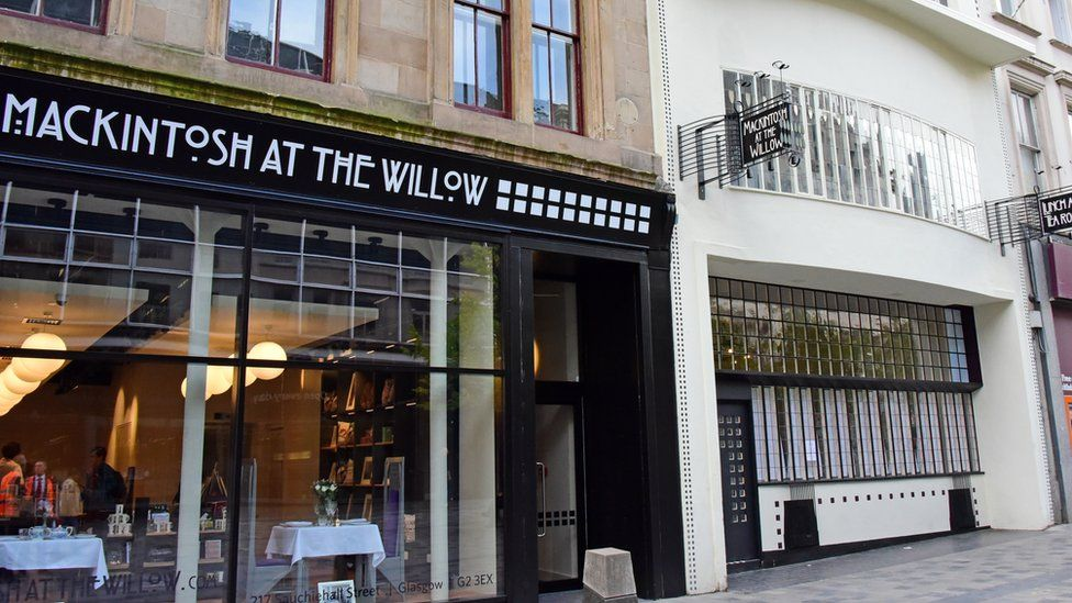A general view of the Charles Rennie Mackintosh designed Willow Tea Rooms in Sauchiehall Street,