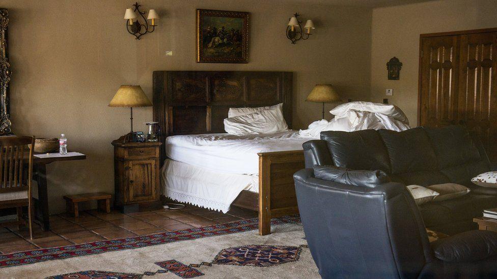 The room where Scalia was found dead