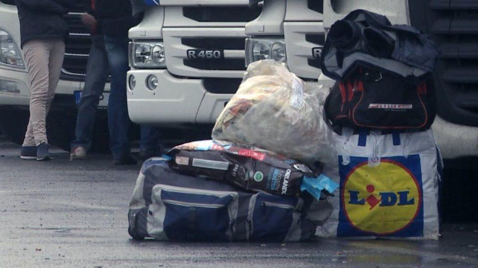 Driver's belongings