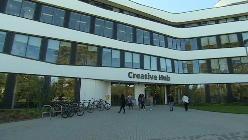 The Creative Hub houses the university's arts courses.