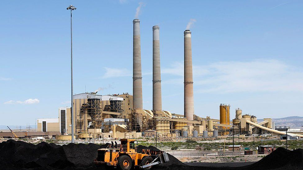 A coal-fired power plant operates in Utah.