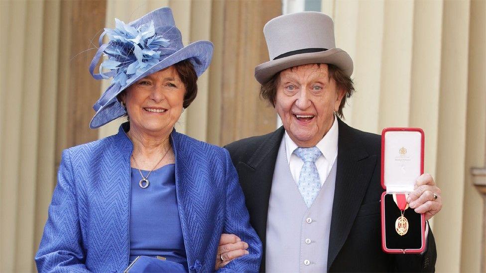 Sir Ken Dodd, with his wife Anne Jones