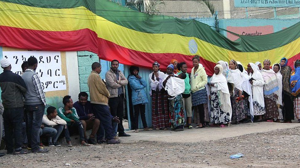 Ethiopian voters in Addis Ababa in 2015