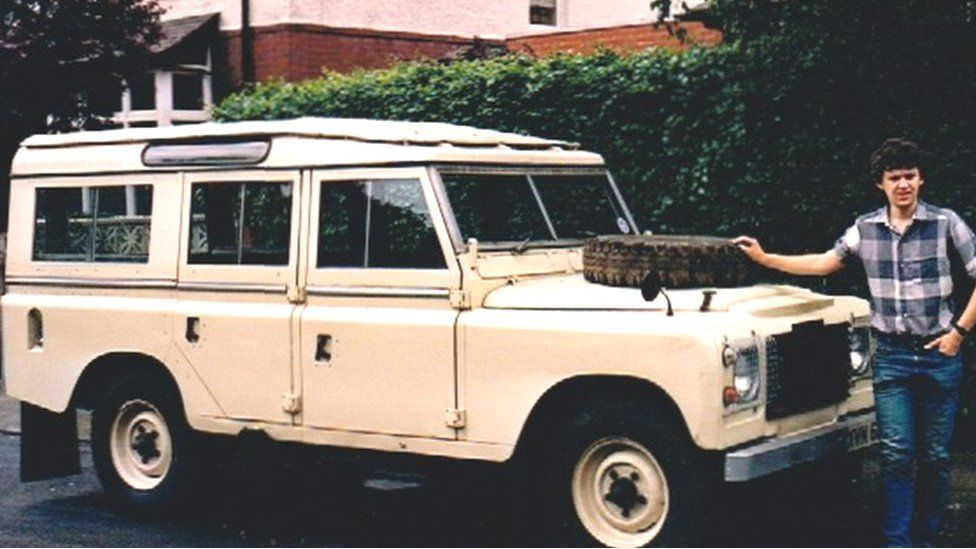 Simon Collins with his first Land Rover