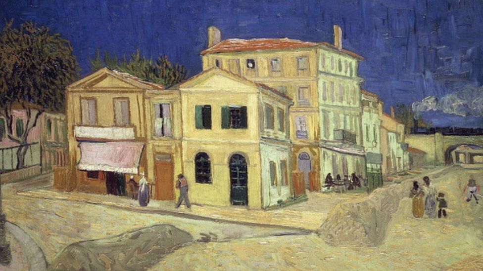 The yellow house, by Vincent van Gogh