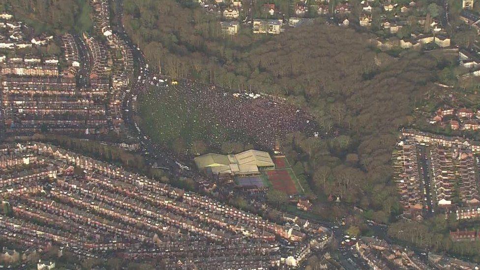 Huge crowds gathered in Endcliffe Park