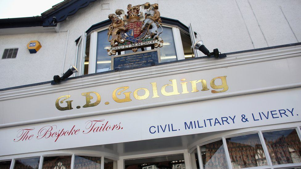 The exterior of G.D. Golding tailors