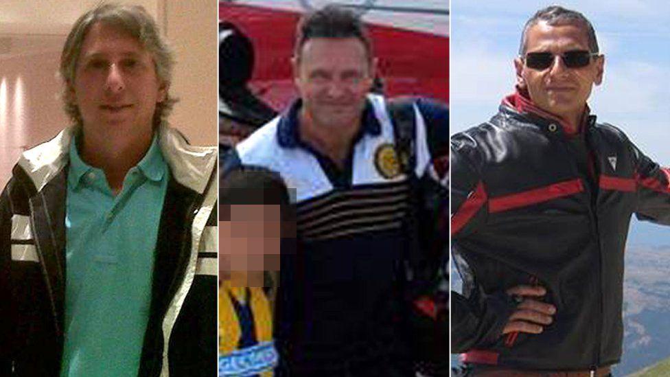 New York attack victims Alejandro Damián Pagnucco, Ariel Erlij and Hernán Ferrucci