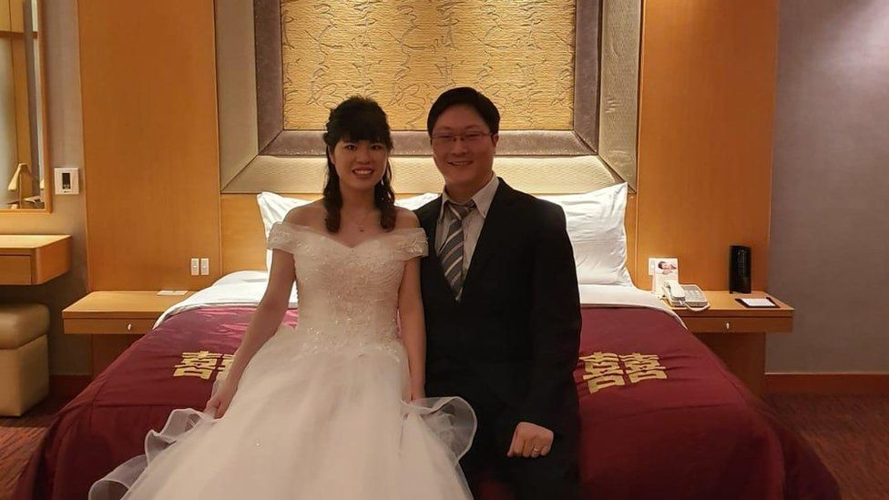 Kang Ting and Joseph Yew in their wedding room