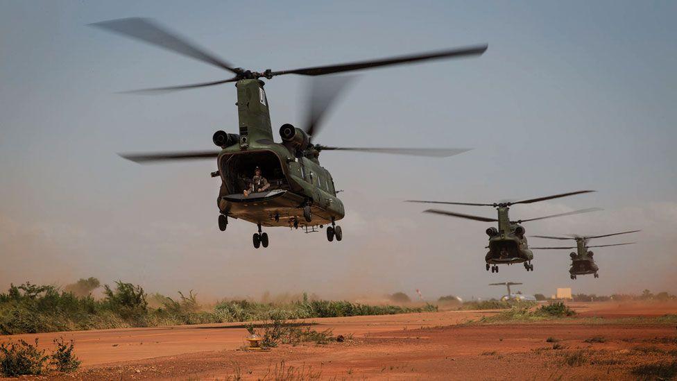 Minusma helicopters, Mali