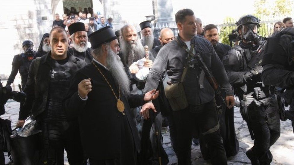 Montenegro clashes as Serb Orthodox Church leader installed - BBC News