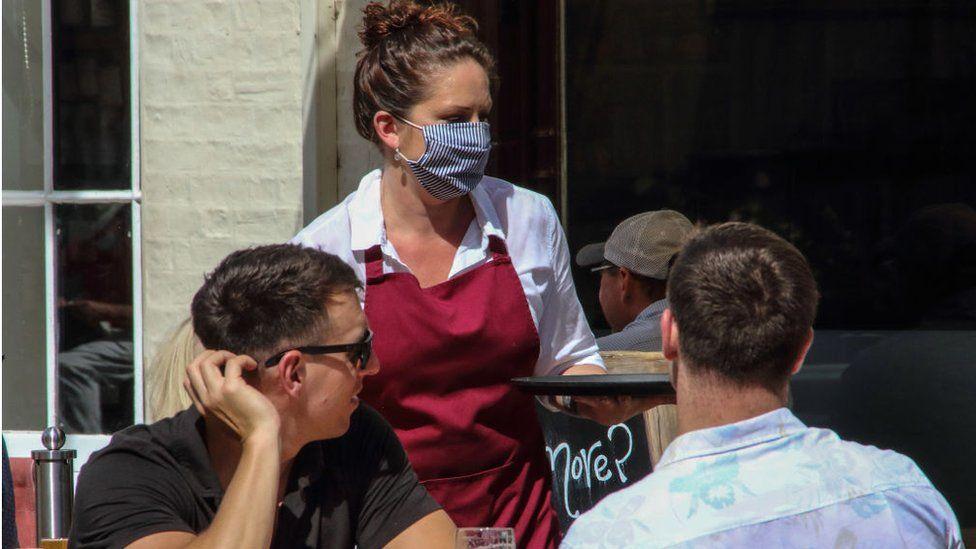 A pub waitress