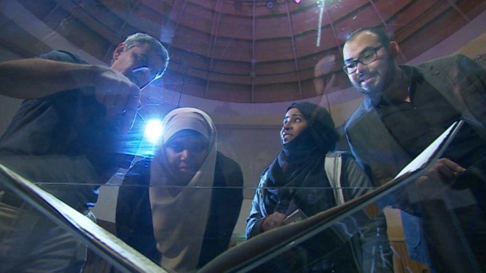 Koran visitors