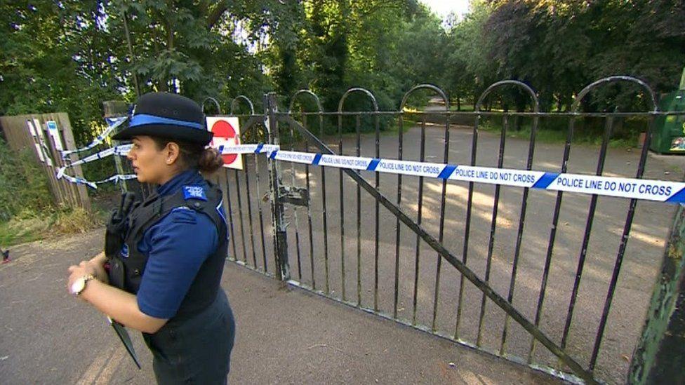 Police at Victoria Park