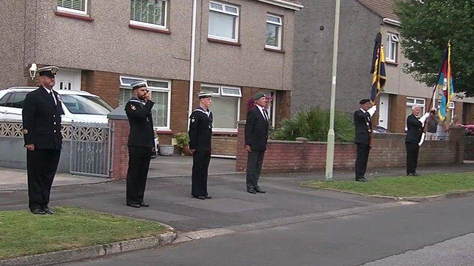 guard of honour along road
