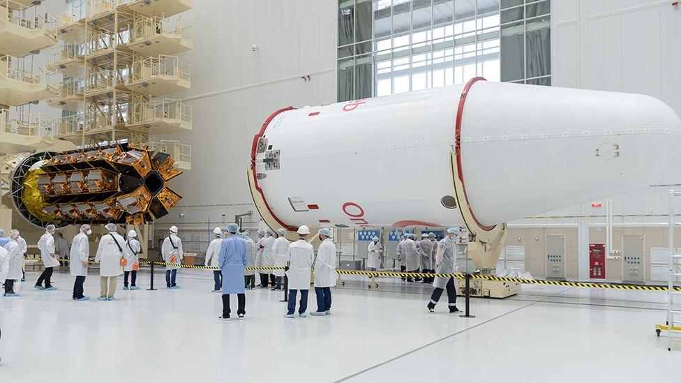 OneWeb satellites in preparation
