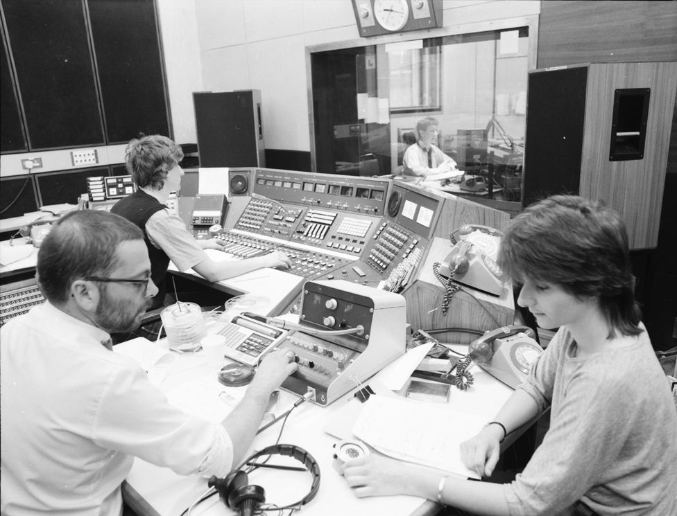 The AM team back in 1978 when BBC Radio Wales was launched