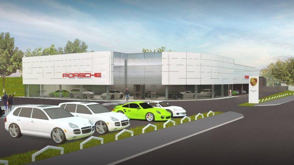 CGI of planned Porsche centre in Perth
