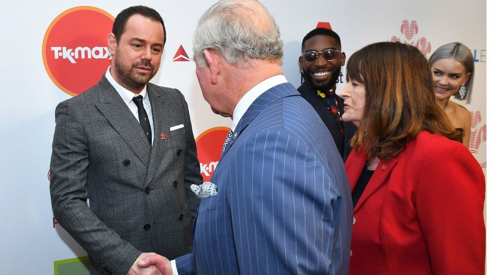 Danny Dyer shakes hands with Prince Charles at the Prince's Trust Awards