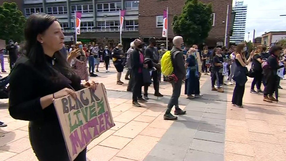 Black Lives Matter protesters in Coventry