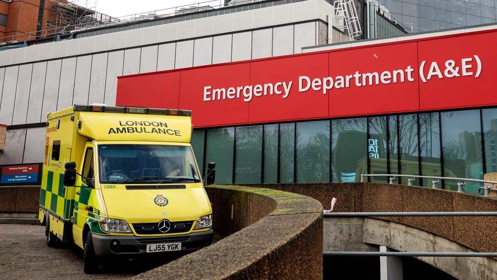Ambulance outside an A&E Department