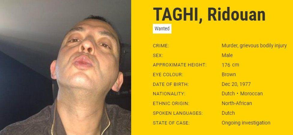 Ridouan Taghi, Europol notice