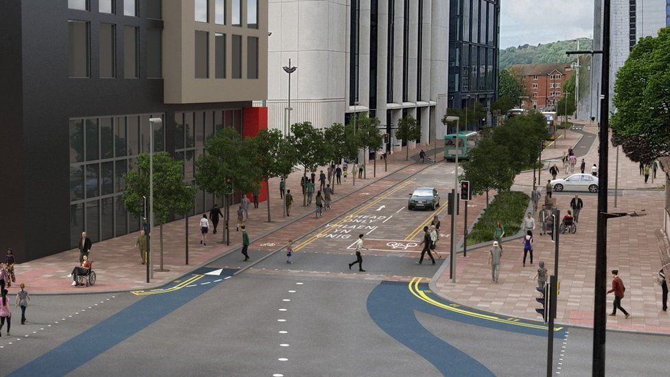 This is how Wood Street in the centre of Cardiff could look