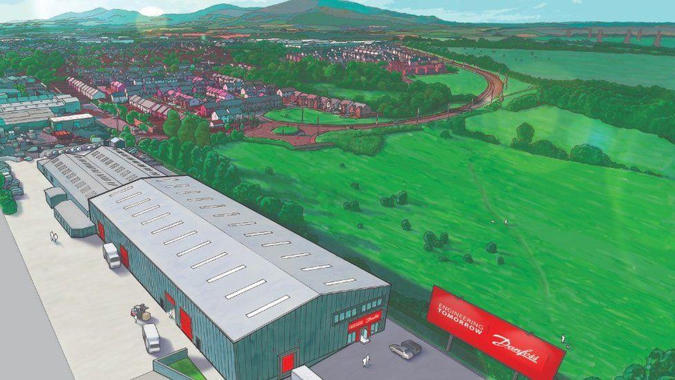 CGI of new facility at Loanhead