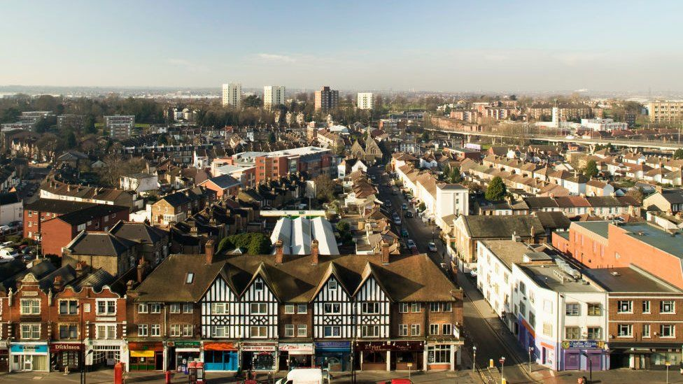Croydon from the air