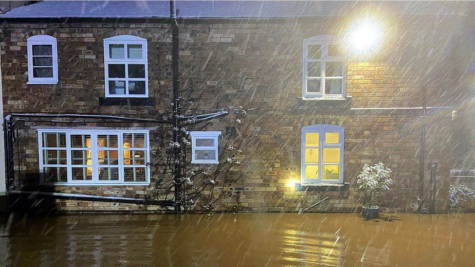 Flooded home in Woore