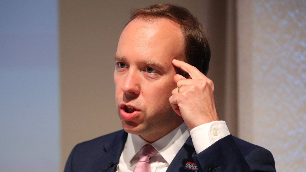 Health Secretary Matt Hancock delivers a speech on the future of the NHS at the Royal College of Physicians in central London. PA Photo. Picture date: Thursday July 30, 2020