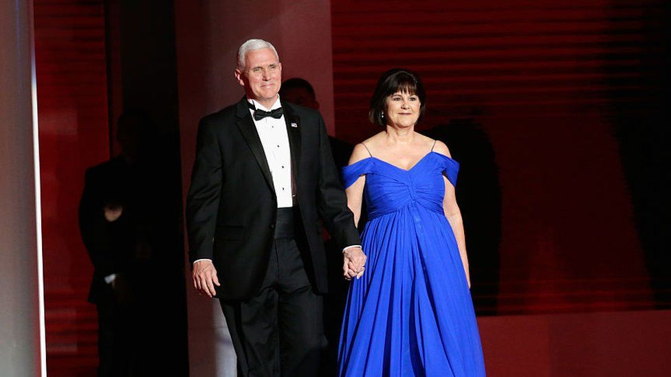Vice-President Mike Pence and Second Lady Karen Pence on inauguration night