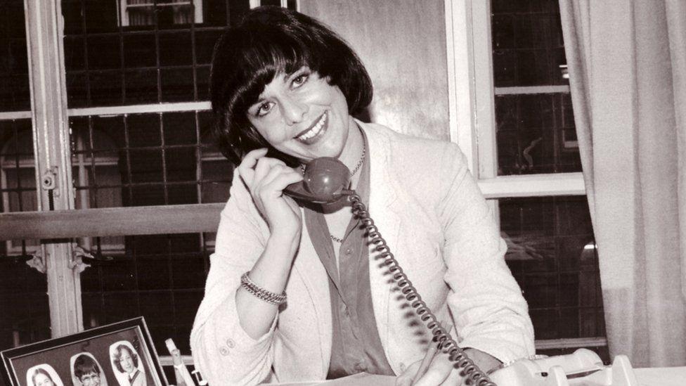 Liz Hodgkinson in the early 1980s