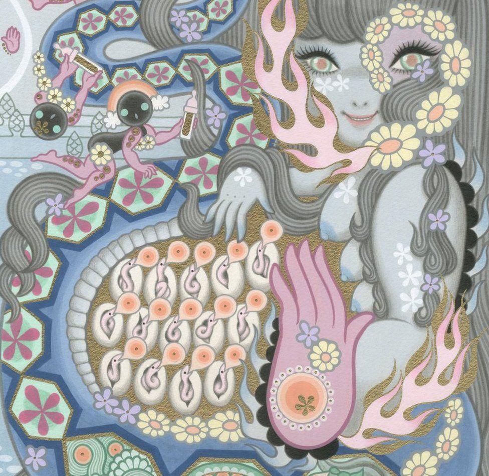 Japanese artist Junko Mizuno's 'gothic-cute' art on show in Cumbria