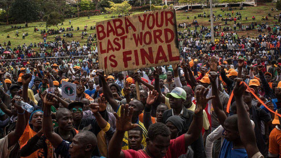 Raila Odinga supporters