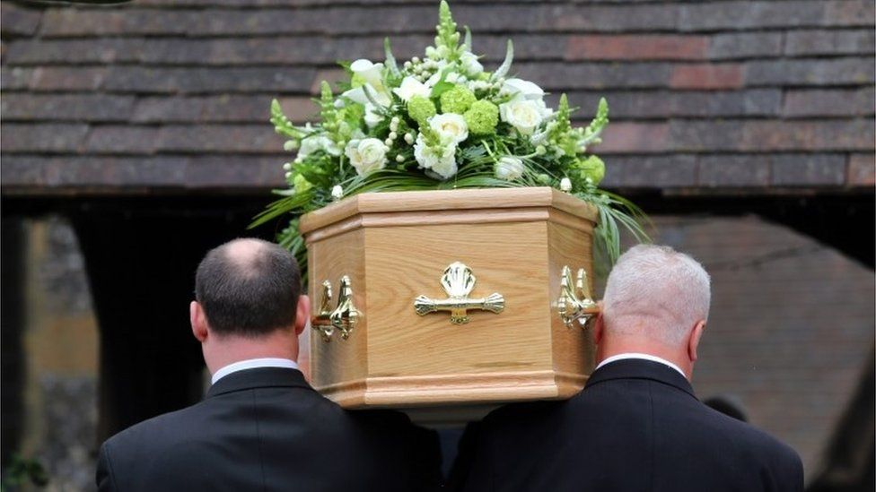Funeral taking place