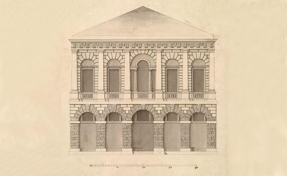 Design for Old Burlington Street, London - by Lord Burlington, 1720