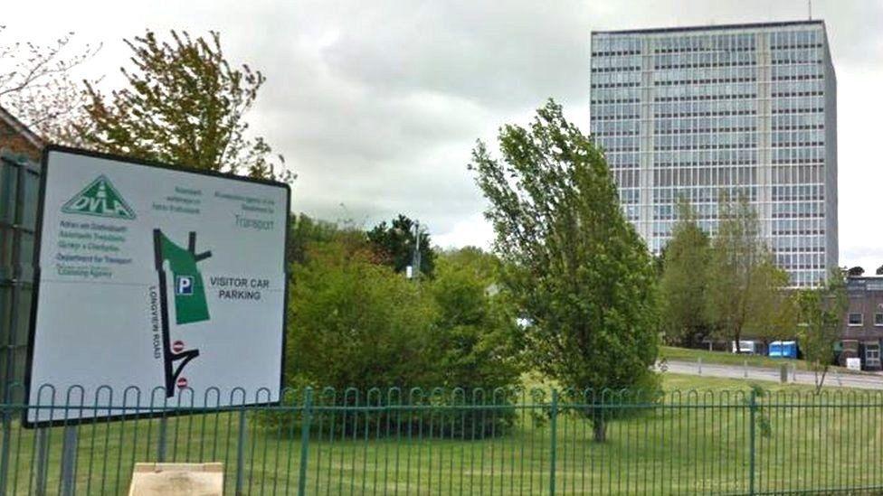 The DVLA offices in Swansea