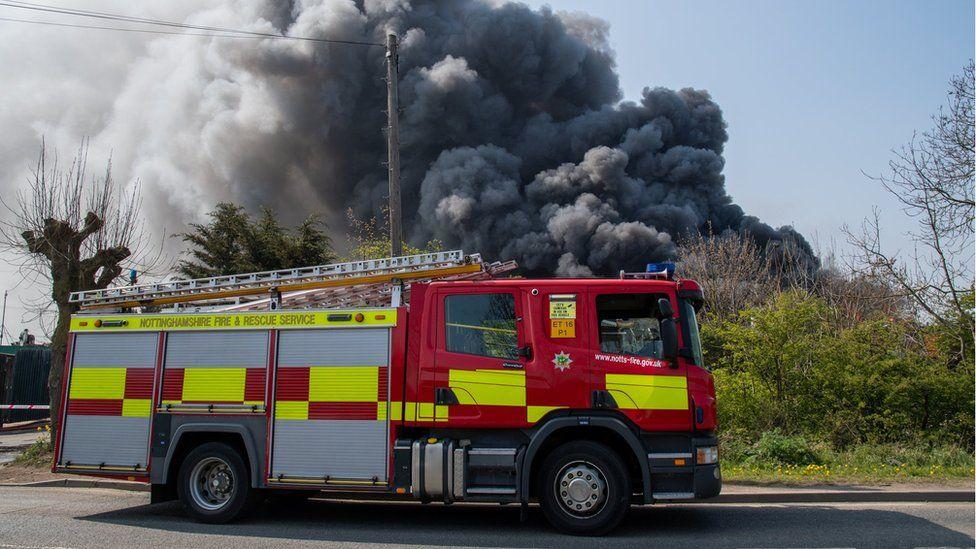 Newark scrapyard fire